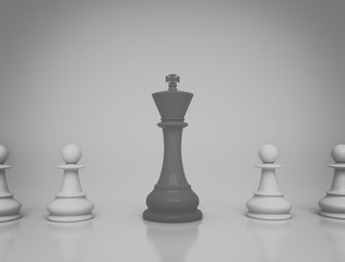 Leadership, conceptual illustration