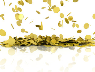 Gold coins, illustration