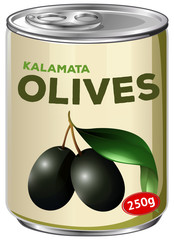 A Can of Kalamata Olives