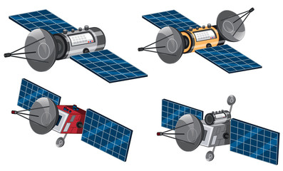 Set of space satellite