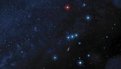 Orion constellation, illustration