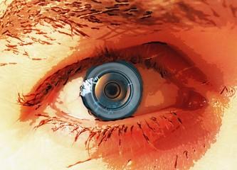Human eye implant, illustration