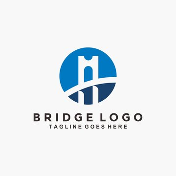 Abstract Bridge logo design