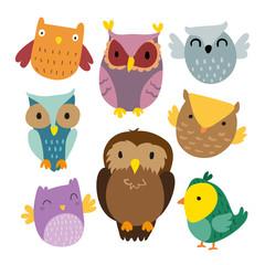 owl vector collection design