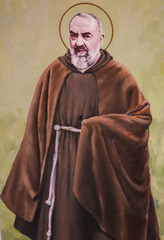 Fresco of Padre Pio in Valencia