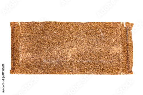 Wall mural used sandpaper isolated on white background with clipping path
