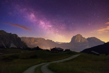Val Gardena Dolomites with Star