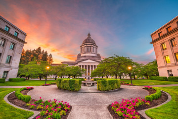 Wall Mural - Olympia, Washington, USA State Capitol