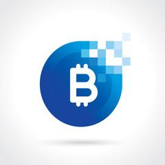 bitcoin icon. Vector digital currency concept