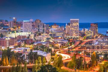 Tacoma, Washington, USA Skyline