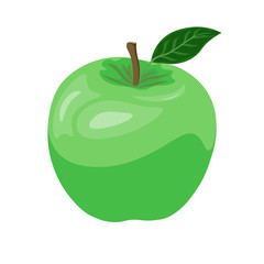 Vector green apple icon