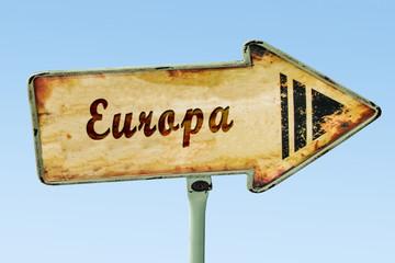 Schild 328 - Europa