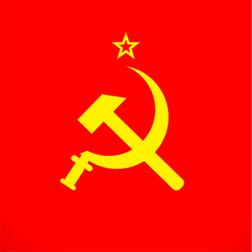 ussr sickle and hammer soviet russia union  symbol
