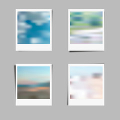 photo  frame background  with blur effect vector