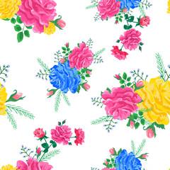 rose cute pattern white-01