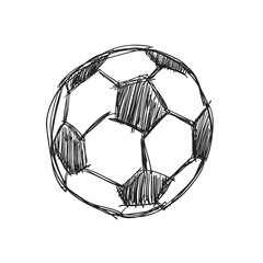 a sketch of a football. vector illustration