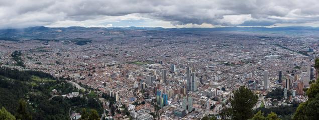Vue sur Bogota depuis le Cerro de Monserrate