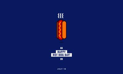Happy Hot Dog Day July 18 Vector Illustration
