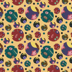 Seamless pattern with cute florals
