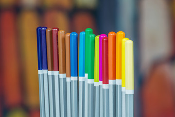 Set of color drawing pencils