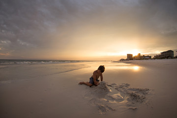 Sunset and Sand