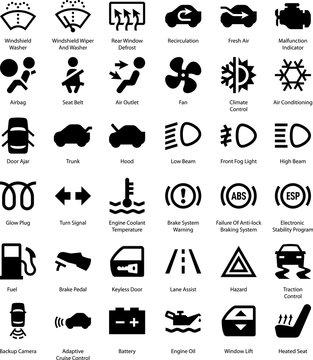 Car Symbols - Black Series