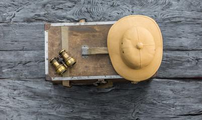 vintage hunter accessories, cork hunter's helmet, safari