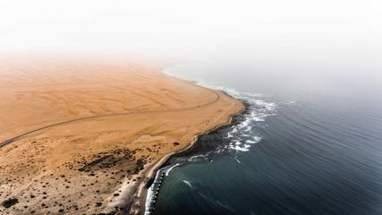 Desert vs. ocean.