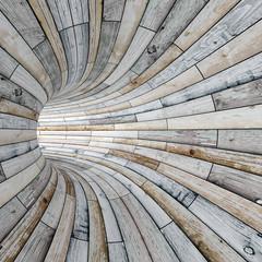 Fototapeta Wood textured tunnel