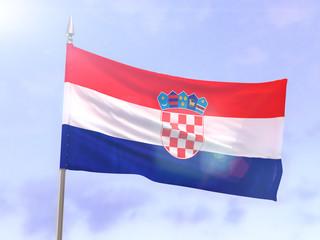 Flag of Croatia with sun flare