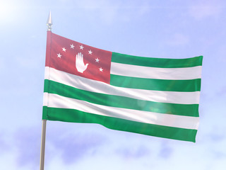 Flag of the Republic of Abkhazia with sun flare