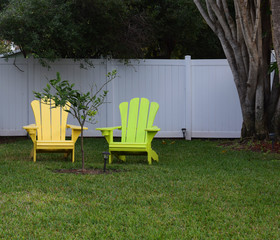 Chairs in the Yard