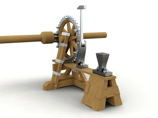 Power hammer, Leonardo da Vinci, Codex Madrid I 0009v.