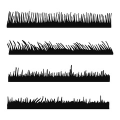 grass black silhouette vector. isolated
