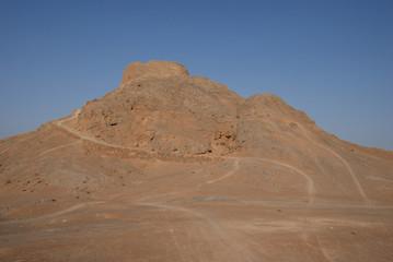 Dakhma, tower of silence near Yazd, Iran