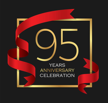95th years anniversary celebration background
