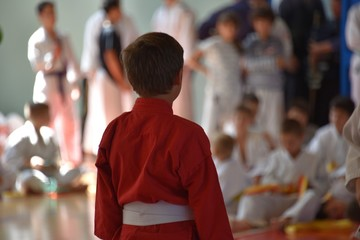 Fotobehang Peking Black and colored belts of judo and martial arts