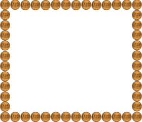 Coins frame. Serbian dinar