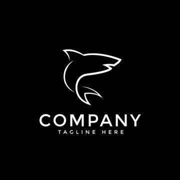 Shark Line Vector Logo