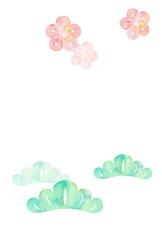 和柄、松と梅