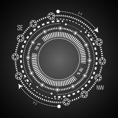 Futuristic HUD .Futuristic virtual graphic , display