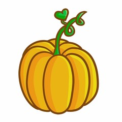 Funny and cute pumpkin - vector.