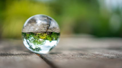 Crystal Ball With Nature Background