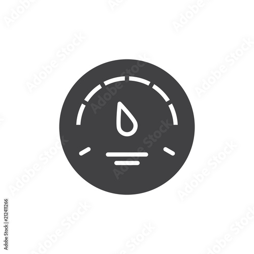 Gas Gauge Vector Icon Filled Flat Sign For Mobile Concept And Web