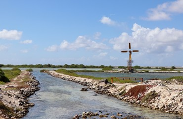Old Windmills in the island of Bonaire
