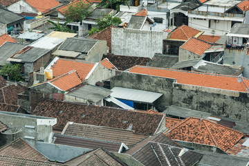 roof of folk house of surabaya