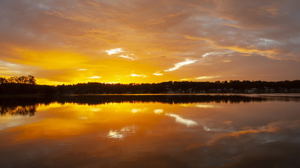 Tranquil orange sky Sunrise Seascape Australia
