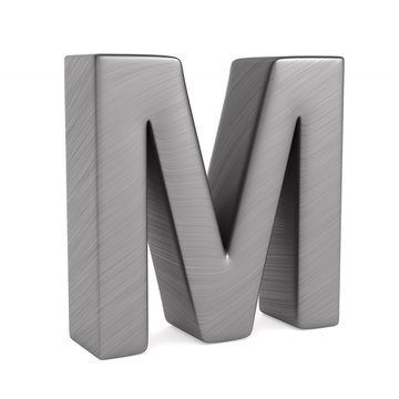 Character M on white background. Isolated 3D illustration