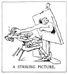 Artist and angry portrait #vector #isolated - Künstler und verärgertes Portrait