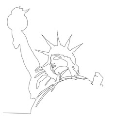 handmade digital sketches of statue of liberty